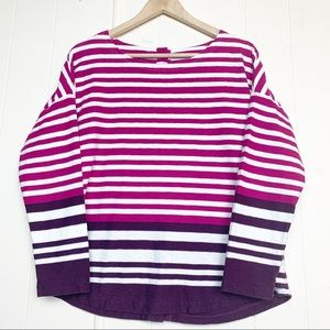 Joules color blocked striped button back Breton